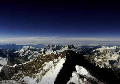 Vista panorámica del Monte Everest