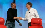 "Bill Gates y Steve Jobs en la conferencia ""D: All Things Digital"""