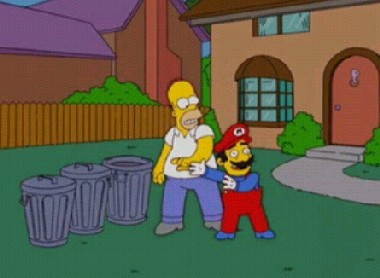 Mario Bros en Los Simpsons