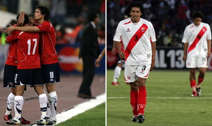 Chile 2 – Peru 0, Eliminatorias Sudafrica 2010