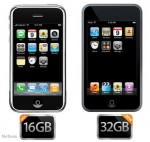 iPhone de 16 GB y iPod Touch de 32 GB