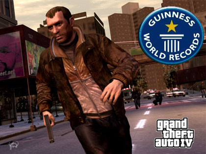 Grand Theft Auto IV en los Guinness World Records